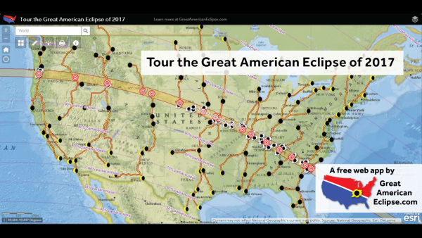 Map of the the 2017 Solar Eclipse path