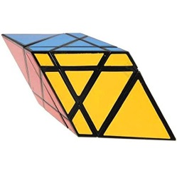 Solved rhomboid cube